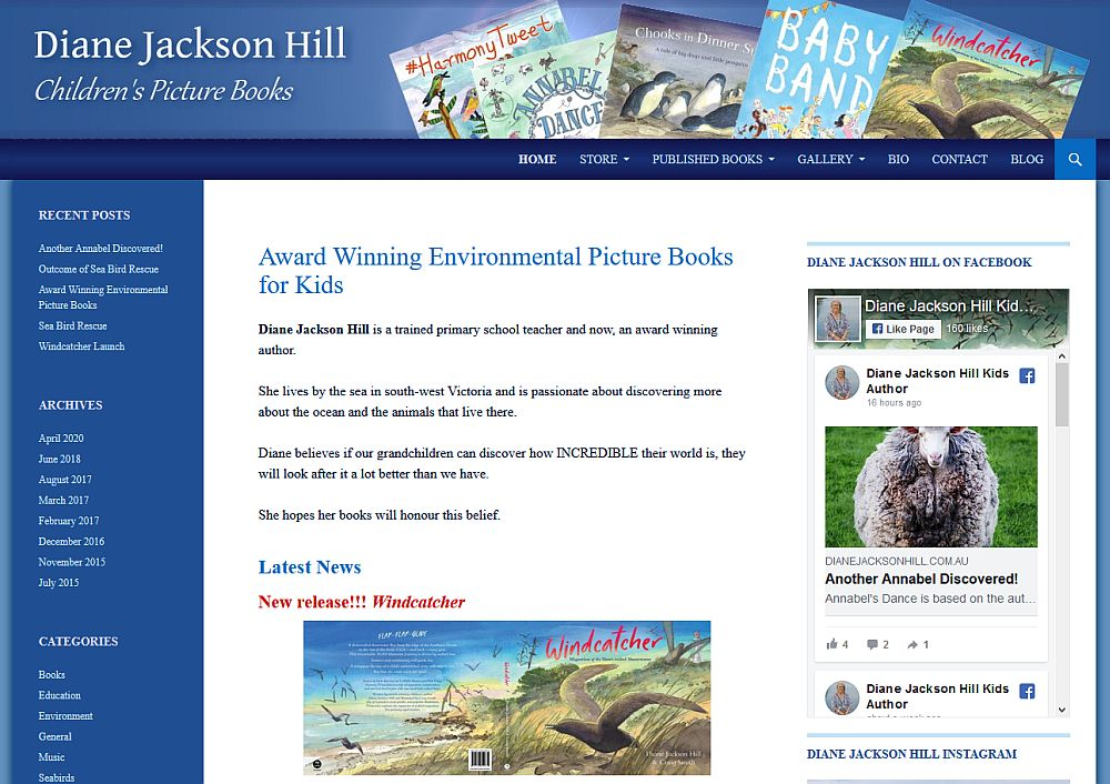 Diane Jackson Hill Children's Author